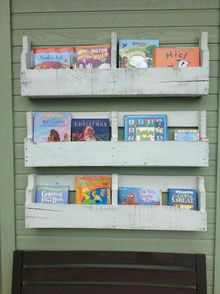 estanteria para libros estanteria de madera con palets libros infantiles ideas de muebles de bricolaje originales