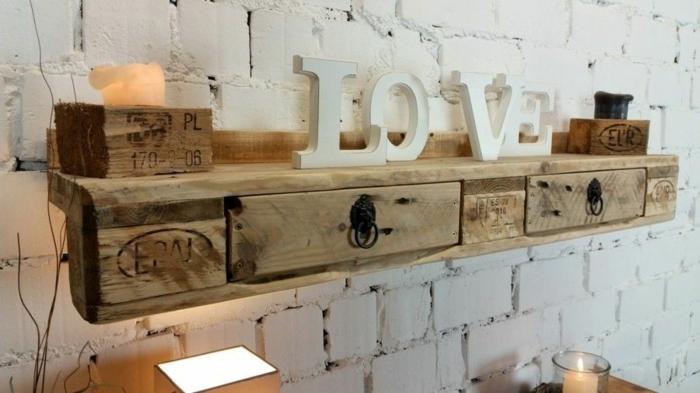 estanterias con palets chulas estanterias de madera hechas a mano pared de ladrillo decoracion bonita