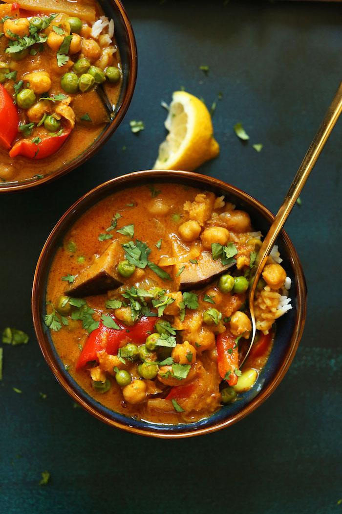 garbanzos al curry verduras arroz al curry con verduras fotos de platos caseros exoticos