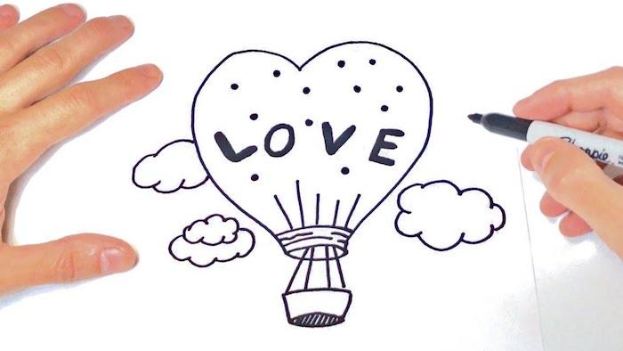 ideas bonitas paracaidas en forma de corazon amor ideas de dibujos de amor originales