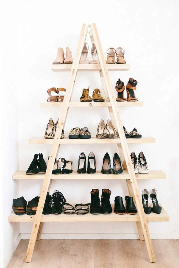 ideas chulas de muebles y decoracion con palets escaletas de palets estanteria para guardar zapatos fotos