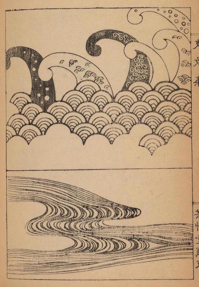 ideas de dibujos simbolicos y bonitos fotos de dibujos olas del mar fotos de dibujos en blanco y negro