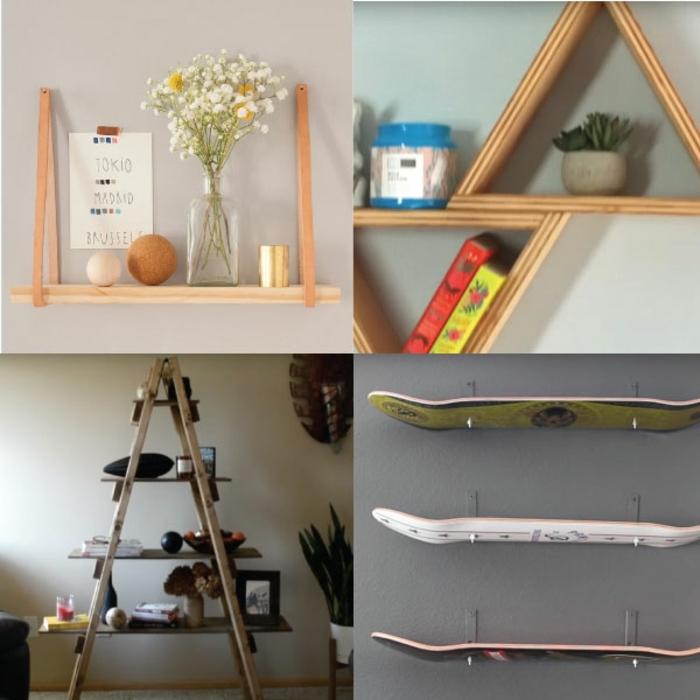 ideas de esntanteria de materiales reciclados muebles con palets faciles y rapidos decoracion casa diy