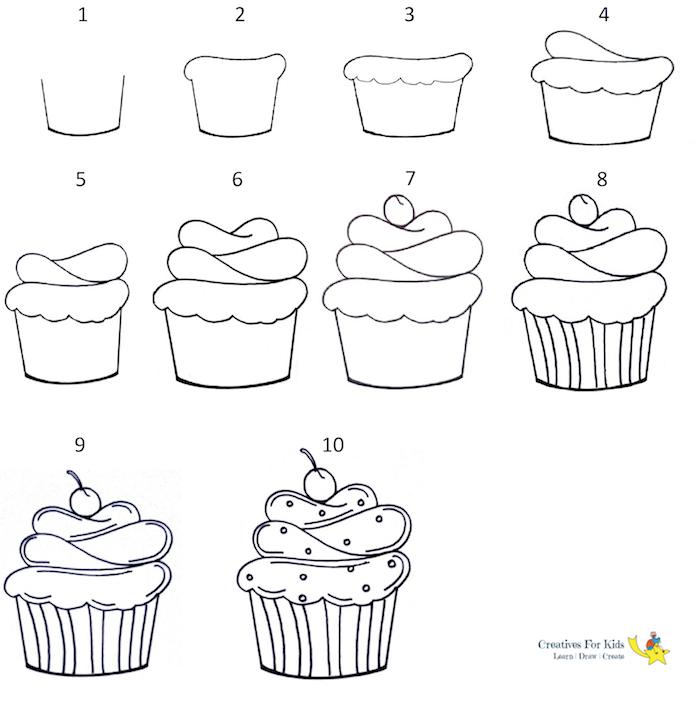 ideas sobre como dibujar cosas feliz cumpleaños dibujos de magdalenas paso a paso ideas de dibujos