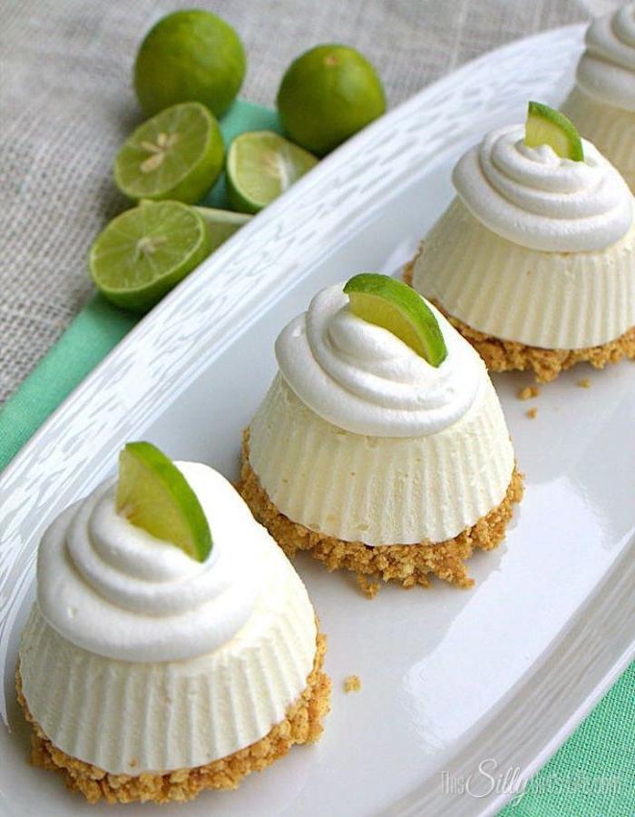 lima crema espesa mini tartas de queso con lima ideas de recetas de postres faciles de hacer en casa