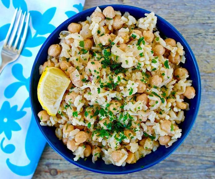 plato griego garbanzos arroz perejil limon ideas de recetas de platos con garbanzos y arroz