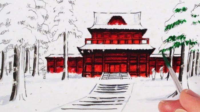 propuestas dibujos ejemplos del arte japones fotos de dibujos chulos paisajes japoneses