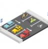 color grafeno imagen de estacionamiento con autos