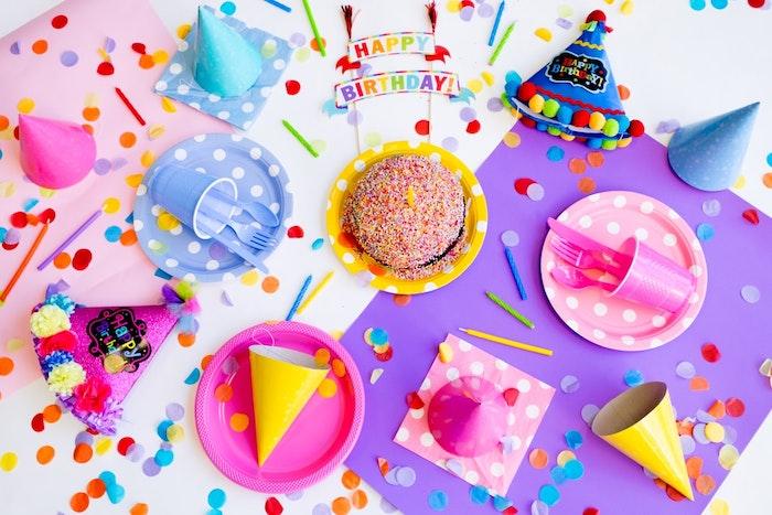 decoracion para cumpleaños infantil colorida decoracion para mesa
