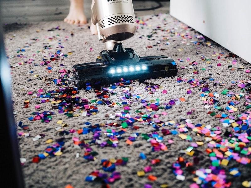 aspiradora sin cable alfombra con confetи