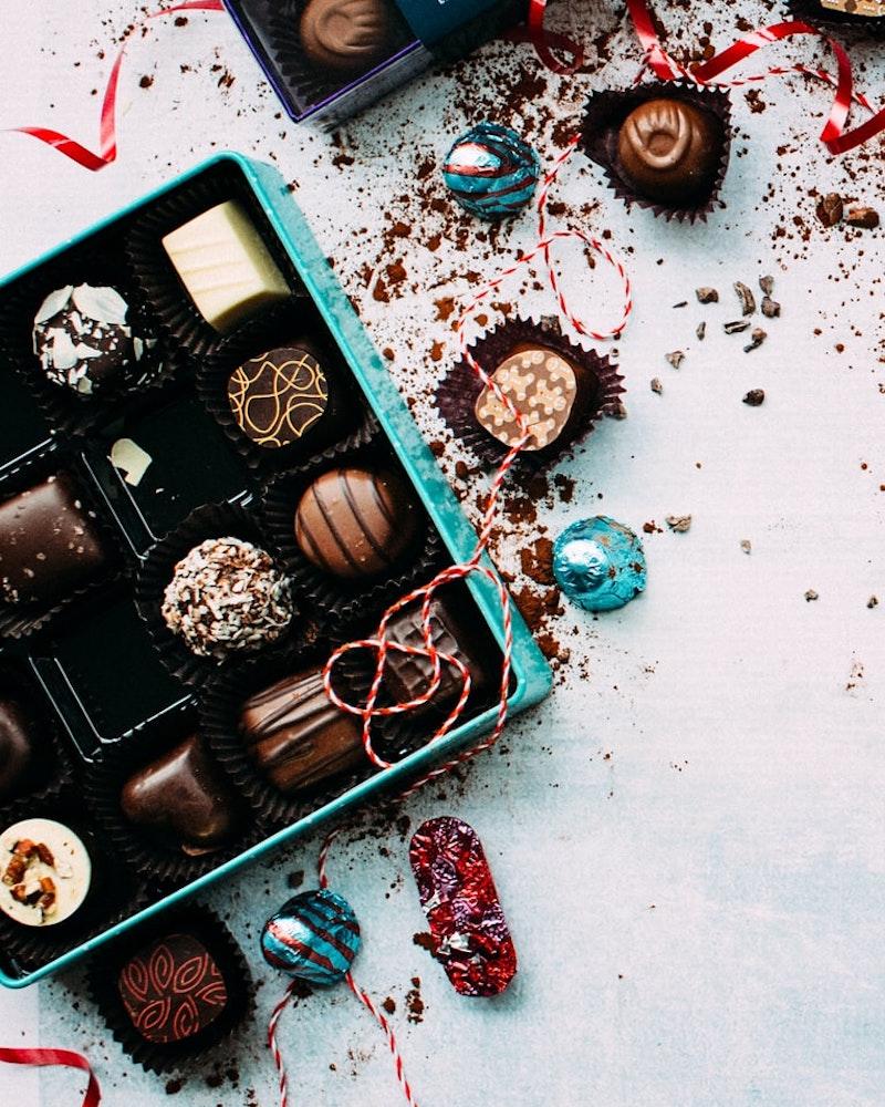 regalo de dulces chocolates hechos a mano